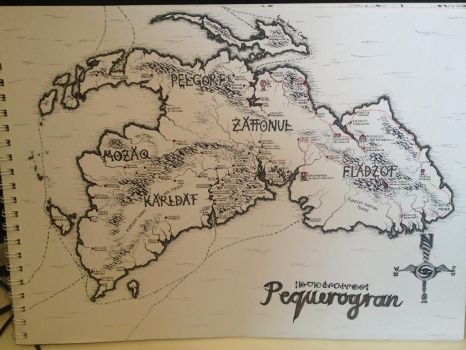 Hand-drawn Map of Pequerogran by CaptainJonnypants