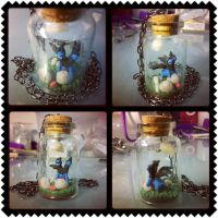 Zweilous in a bottle necklace