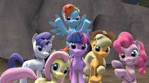 [SFM] Mane 6 by MajorRainbow