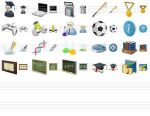 Desktop Education Icons by Ikont