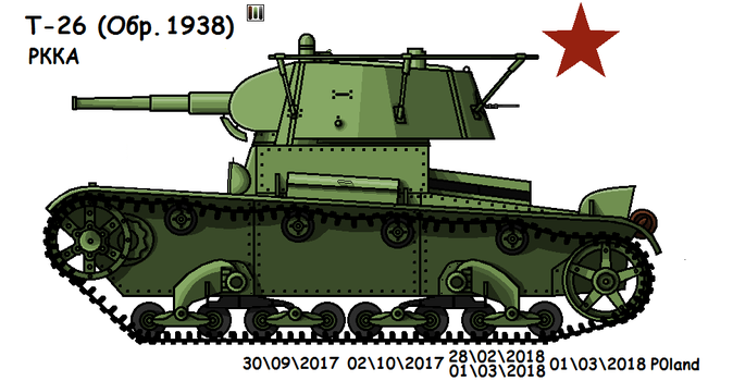T-26  (Ver.1938, Command) by P0landWW2