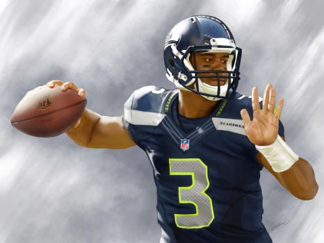Russell Wilson Painting by Jaemez