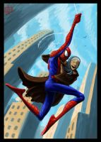 Spidey Saves a Crazy Old Lady by VegasMike