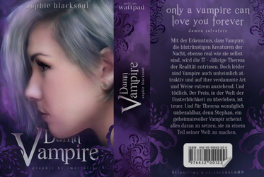 Damn Vampire Bookjacket by Auberginenqueen
