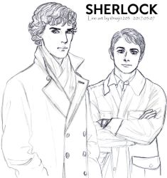 SHERLOCK line art by noji1203
