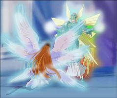 The return of Ophanimon by Ayhelenk