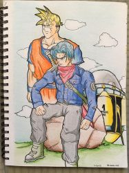 Future Trunks and Gohan by Icyryujin