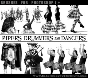 Pipers Drummers Dancers Scottish Brushes by wackycracka