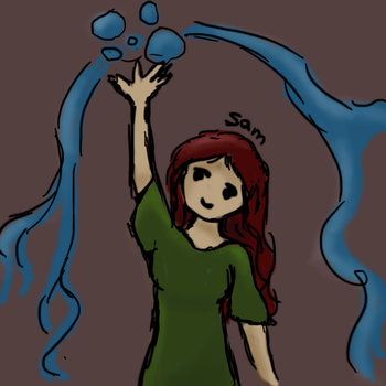 Sam the waterbender by xMysteryWriter