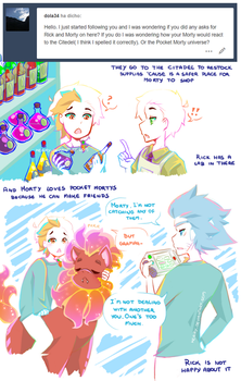 RAM AU: the Citadel and Pocket Mortys by keary