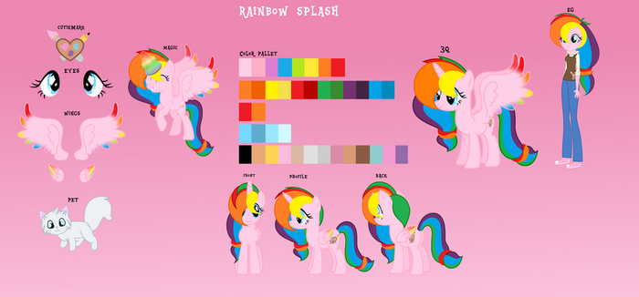 Rainbow Splash complete reference sheet by Lalalover4everYT