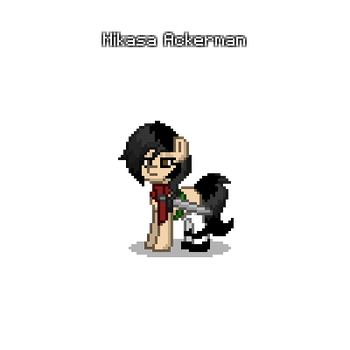 Mikasa Ackerman in pony town by wolflover7948