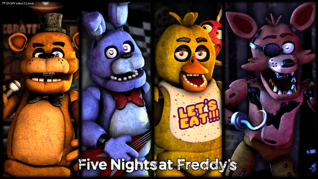 Five Nights at Freddy's - Characters by TF541Productions