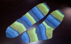 Just Perfectly ragg socks in Fortissima by KnitLizzy