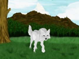 Pacing wolf by Skychaser