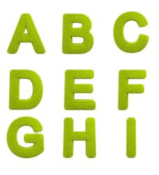 Full Grass Alphabet Isolated Letters by graphictwister