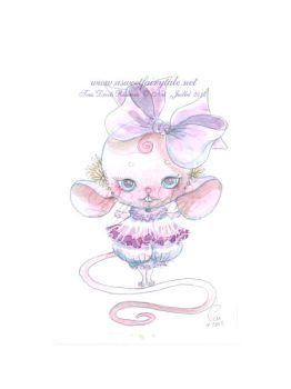 Aquarelle Souris by Nailyce