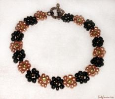 Copper and Coal Daisy Anklet by EmilyCammisa