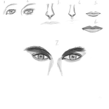 Studies idrawgirls lips, eyes, nose and two eyes by Shanelee90