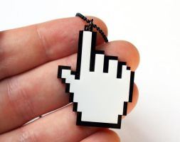 Mouse cursor pixels - Hand by milkool