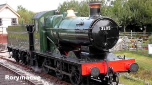 GWR 3205 at Totnes by The-Transport-Guild