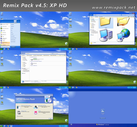 XP HD Remix Pack v4.5 (For Windows 7/8-8.1/10) by RemixPack