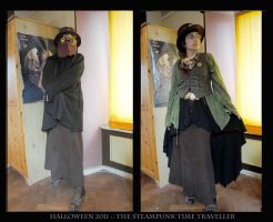 The Steampunk time traveller by dragonladych