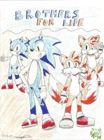 :Sonic and Tails-Brothers For Life:- Contest Entry by manicgirl155