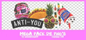 + Mega Pack de png's |regalito por los 900| by natieditions00
