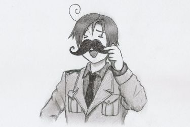 Romano and his Mustache~ by blueoceaneyes101