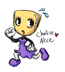 Chalice Alice - Cuphead OC Adoptable by CloverWing