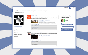 Facebook desktop client by SheriffRego
