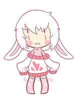 White-Pink Rabbit (Closed) by Rusty-Adopts