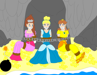 Princesses In Cave by SuperTailsHero