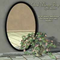 Oval Mirror Prop by Kethaera