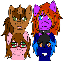 Pony Heads by VeronicaPrower