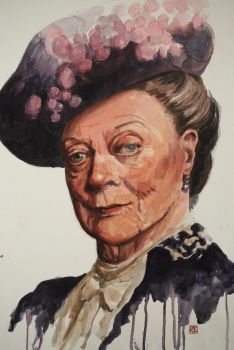 Maggie Smith as the Duchess of Grantham by Mad-Margaret