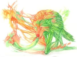 _Forest Fire Spirit_ by Aikya