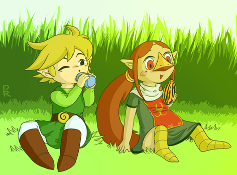 Link and Medli by PangoRadio