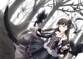 Gothic Lolita and Crows by Way09