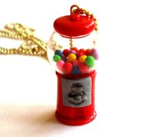 Gumball Machine Necklace by FatallyFeminine