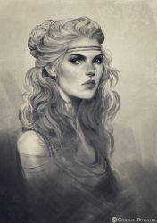 Sketch Bust by Charlie-Bowater