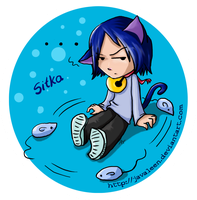 Sitka button by JavaLeen