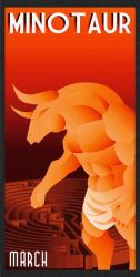 MINOTAUR art deco by rodolforever