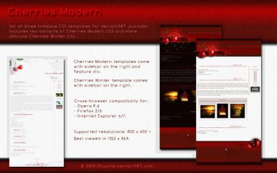 Cherries Modern CSS by Dhuaine