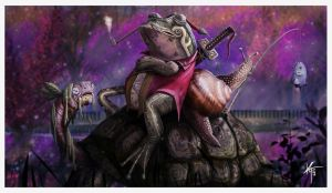 The Frog the Snail the Turtle by KxG-WitcheR