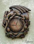 Ouroboros wall clock 01