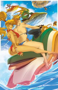 Street Fighter and Friends Swimsuit Special 2017 by HeavyMetalHanzo