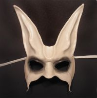 Ghost Rabbit Leather Mask by teonova