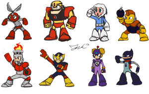 Robot Masters Sketch - MM1 by JonCausith